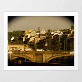 Town on the Hill Art Print