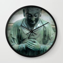 Bronze Buddha Wall Clock