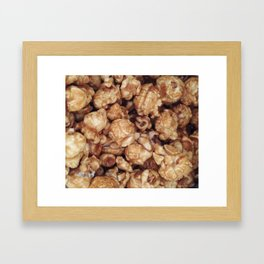 CARAMEL POPCORN Framed Art Print