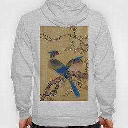 Birds on Branches square Hoody