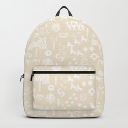 Peoples Story - White on Sand Backpack