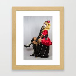 Pretty in Boots Framed Art Print