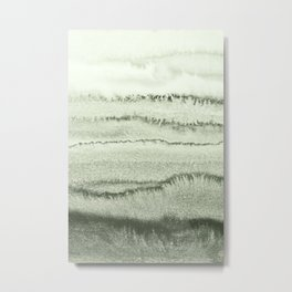 WITHIN THE TIDES - SAGE GREEN by MS  Metal Print