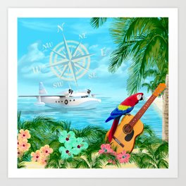 Tropical Travels Art Print