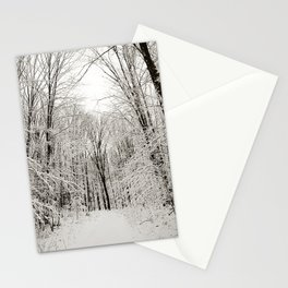Snow Trail Stationery Cards
