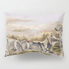 Totem wolf Sunset Pillow Sham
