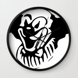 The Clown That Creeps Wall Clock
