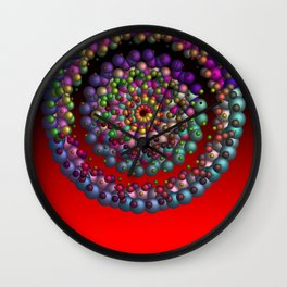 round, colorful, red Wall Clock