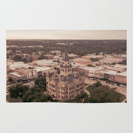 Denton, TX Square and Courthouse Rug