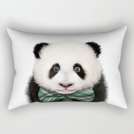 Baby Panda With Bow Tie, Baby Animals Art Print By Synplus Rectangular Pillow