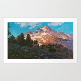 Crown Of The Cascades Art Print