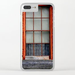 Window Shutters Clear iPhone Case