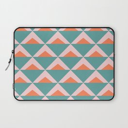 Colorful Triangle Pattern in Teal, Pink, and Orange Laptop Sleeve