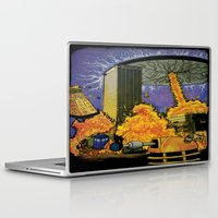 dr who Laptop & iPad Skins featuring Dr. Who Saves Milwaukee by Amanda Iglinski