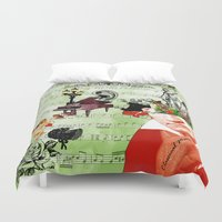 beethoven Duvet Covers featuring Classical music by Design4u Studio