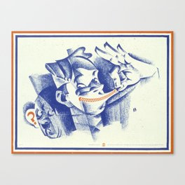 Vintage poster - Loose lips Canvas Print