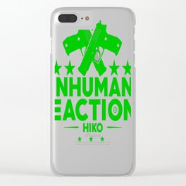 Inhuman-Reactions Clear iPhone Case
