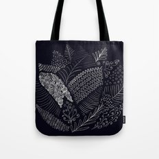 Lotus monochrome Tote Bag