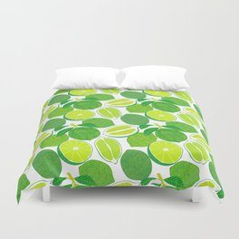 Lime Harvest Duvet Cover