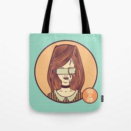 self-portrait (colored) Tote Bag