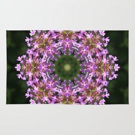 Constellation of Verbena flowers mandala Verbena bonariensis 1829 k2 Rug