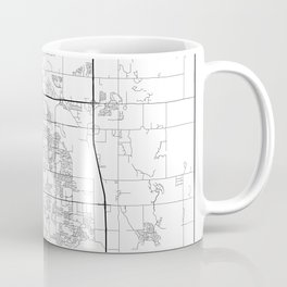 Minimal City Maps - Map Of Fort Collins, Colorado, United States Coffee Mug