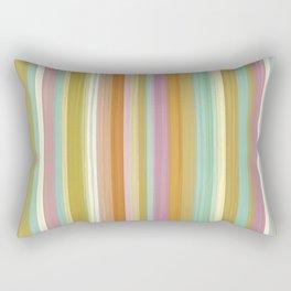 pastel stripe 3 Rectangular Pillow