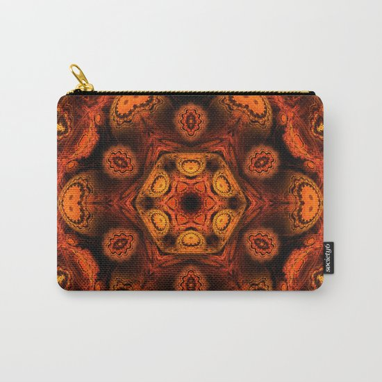 Burning jellyfish kaleidoscope Carry-All Pouch