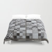 chess Duvet Covers featuring Chess  by Geometric Arte Studio