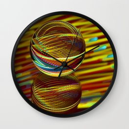 Golden Ball Wall Clock
