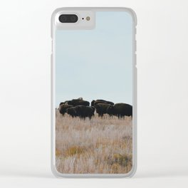 Prairie Bison Clear iPhone Case