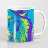 lion king Mugs featuring KING LION by free_agent08