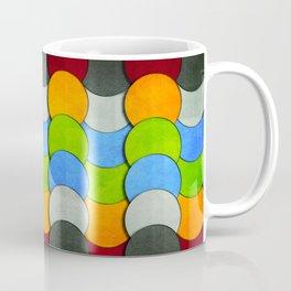 Overlapping Circles-Textured  Coffee Mug