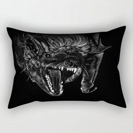 Brown Bat Rectangular Pillow