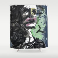 howl Shower Curtains featuring Silent Howl by Noir Malariu