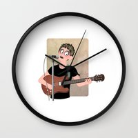 lou reed Wall Clocks featuring Lou Reed by Lili's Damn Fine Shop