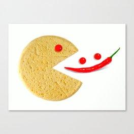 conceptual pizza-smile eat pepper Canvas Print