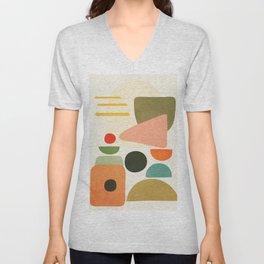 Modern Abstract Art 71 Unisex V-Neck