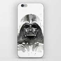 darth iPhone & iPod Skins featuring Darth Vader by Olechka