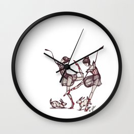 Dancing Twins Wall Clock