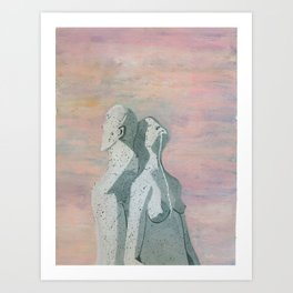 one flew over the statue Art Print