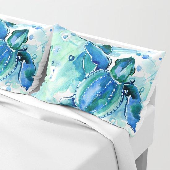 Turquoise Blue Sea Turtles in Ocean by sureart