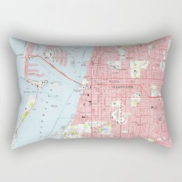 Vintage Map of Clearwater Florida (1974) Rectangular Pillow