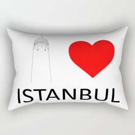 I Love Istanbul Rectangular Pillow