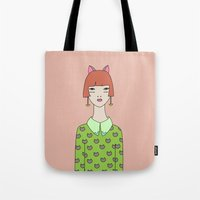 kit king Tote Bags featuring kit by Sproot