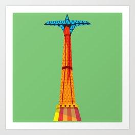 Parachute Jump Art Print