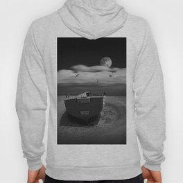 Row Boat on a Sandy Beach in Biscayne Bay Florida Hoody