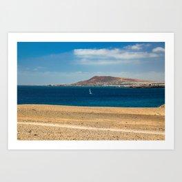 Seaside town Art Print