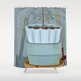 Stacked pots Shower Curtain