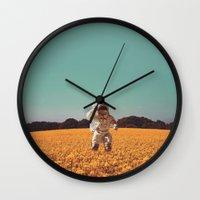hello Wall Clocks featuring Hello by @slimesunday